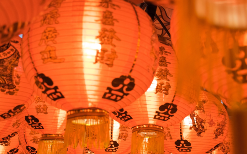 Chinese lanterns as part of Chinese New Year celebrations